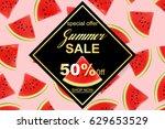 summer sale banner design... | Shutterstock .eps vector #629653529