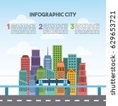 buildings infographic city... | Shutterstock .eps vector #629653721