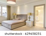 shot of a luxurious bedroom... | Shutterstock . vector #629658251