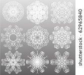 snowflake set | Shutterstock .eps vector #62965840
