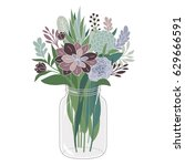 bouquet of flowers | Shutterstock .eps vector #629666591
