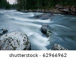 fast river in northern Russia - stock photo