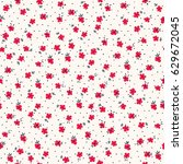 small flowers seamless pattern... | Shutterstock .eps vector #629672045