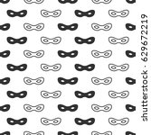 seamless pattern with mask.... | Shutterstock .eps vector #629672219