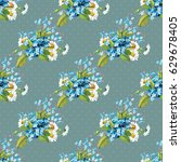 seamless floral pattern with...   Shutterstock .eps vector #629678405