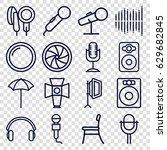 studio icons set. set of 16...