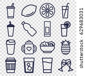juice icons set. set of 16...