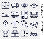view icons set. set of 16 view...   Shutterstock .eps vector #629684729