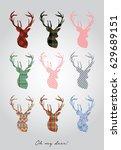 deer | Shutterstock .eps vector #629689151