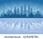 kuala lumpur malaysia city... | Shutterstock .eps vector #629698781