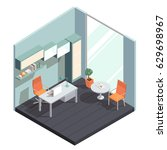 vector isometric interior  3d... | Shutterstock .eps vector #629698967