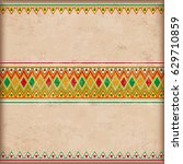 vintage background with mexican ... | Shutterstock .eps vector #629710859