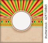 vintage background with mexican ... | Shutterstock .eps vector #629710865
