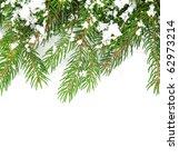 christmas framework with snow... | Shutterstock . vector #62973214