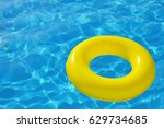 colorful inflatable tube... | Shutterstock . vector #629734685