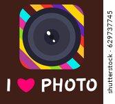 camera photo lens equipment...   Shutterstock .eps vector #629737745