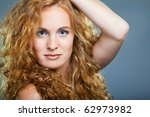 portrait of beautiful lady on... | Shutterstock . vector #62973982