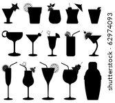 cocktail drink fruit juice... | Shutterstock .eps vector #62974093