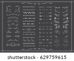big set of elements for wedding ... | Shutterstock .eps vector #629759615