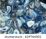 amazing colorful blue agate... | Shutterstock . vector #629764301