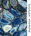 Small photo of Natural semi-precious stone - blue agate