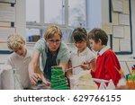 primary school students are... | Shutterstock . vector #629766155