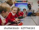 primary school children are in... | Shutterstock . vector #629766161