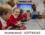 primary school children are in... | Shutterstock . vector #629766161