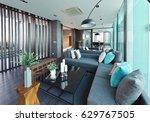 luxury modern living room... | Shutterstock . vector #629767505