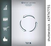 circular arrows vector icon | Shutterstock .eps vector #629767751