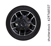alloy wheels with white... | Shutterstock . vector #629768537