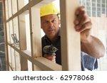 construction worker building... | Shutterstock . vector #62978068