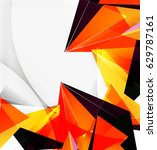 3d triangles and pyramids ... | Shutterstock .eps vector #629787161