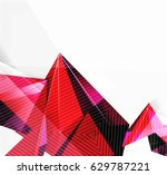 3d triangles and pyramids ... | Shutterstock .eps vector #629787221