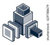 engineering abstract shape  3d... | Shutterstock .eps vector #629788679