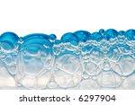 blue foam bubbles isolated on... | Shutterstock . vector #6297904
