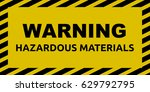 hazardous materials sign | Shutterstock .eps vector #629792795