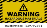 hazardous materials sign | Shutterstock .eps vector #629792891