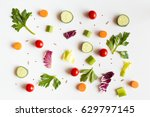 eating pattern with raw... | Shutterstock . vector #629797145