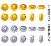 cartoon set of 3d metallic...   Shutterstock .eps vector #629800649
