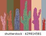 Cacti Illustrations On Varied...