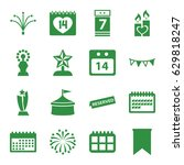 event icons set. set of 16... | Shutterstock .eps vector #629818247