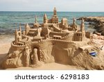 Amazing Sandcastle On A...