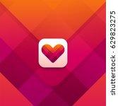 dating app logo design. heart... | Shutterstock .eps vector #629823275