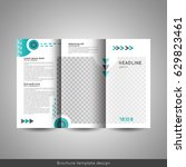 tri fold business or... | Shutterstock .eps vector #629823461