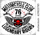 motorcycle t shirt graphic... | Shutterstock .eps vector #629823785