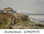 house on the cliffs | Shutterstock . vector #629829575