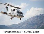 black hawk uh 60 helicopter... | Shutterstock . vector #629831285