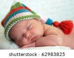 Sleeping Baby Girl Wearing A...