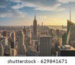 new york city skyline with... | Shutterstock . vector #629841671